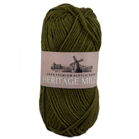 Heritage mills Supersoft Acrylic Knitting Yarn 8ply, 100g Ball, OLIVE GREEN