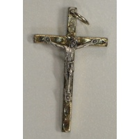 Crucifix 40mm Silver Tone Metal Crucifix Pendant, Quality Crucifix Made in Italy