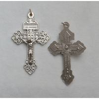 Religious Pardon Crucifix, Cross, 55 x 30mm Pendant, Quality Made in Italy