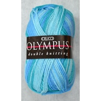 Crucci Olympus Knitting Yarn 100% Acrylic 8 Ply, 100g Ball Prints DK #23 OCEAN