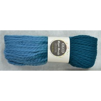 Crucci Hippie Hanks Knitting Yarn 100% Pure Wool 18 Ply, 100g Hanks #41 TEAL