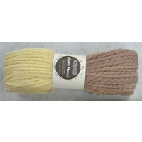 Crucci Hippie Hanks Knitting Yarn 100% Pure Wool 18 Ply, 100g Hanks #49 NATURALS