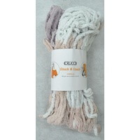 Crucci Slouch & Couch Knitting Yarn Polyester Chenille 20 Ply 100g Hank #151 SILVER