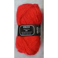 Crucci Aquarius Knitting Yarn, 50% Acrylic 50% Nylon, 100g Ball #105 RED ORANGE