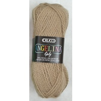 Crucci Angelina Knitting Yarn 80% Wool, 20% Mohair, 8 Ply 50g Ball, LIGHT BROWN