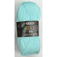 Crucci Angelina Knitting Yarn 80% Wool, 20% Mohair, 8 Ply 50g Ball, AQUA