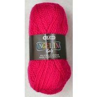 Crucci Angelina Knitting Yarn 80% Wool, 20% Mohair, 8 Ply 50g Ball, HOT PINK