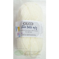 Crucci Little Bells Knitting Wool, 80% Wool, 20% Polyester 4 Ply 50g Ball Cream