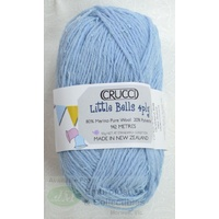 Crucci Little Bells Knitting Wool, 80% Wool, 20% Polyester 4 Ply 50g Ball Baby Blue