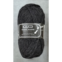 Crucci Natural Wonder Knitting Yarn, Pure Wool, 18 Ply, 100g Ball #37 CHARCOAL