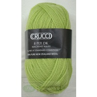 Crucci 8 Ply DK Knitting Yarn Pure New Zealand Wool, 50g Ball, #59 SPRING GREEN