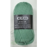 Crucci 8 Ply DK Knitting Yarn Pure New Zealand Wool, 50g Ball, #88 SOFT JADE