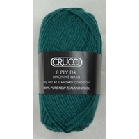 Crucci 8 Ply DK Knitting Yarn 100% Pure New Zealand Wool, 50g Ball, #102 PETROL BLUE