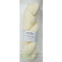 Woolly Crafty Knitting Yarn 100% Pure Wool 8 Ply, 100g Hanks #2 CREAM