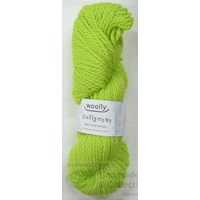 Woolly Crafty Knitting Yarn 100% Pure Wool 8 Ply, 100g Hanks #18 PALE LIME