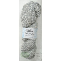 Crafty Marles Knitting Yarn, Pure Wool 8 Ply, 100g Hank #43 SILVER WHITE