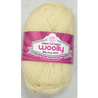 Crucci's WOOLLY 8 Ply 100% Pure Wool Machine Wash, 50g Ball, CREAM