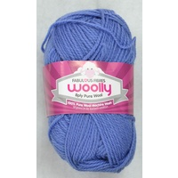 Crucci's WOOLLY 8 Ply 100% Pure Wool Machine Wash, 50g Ball, LIGHT DENIM
