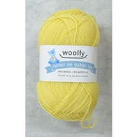 Woolly Perfect For Babies Knitting Yarn, 90% Wool 4 Ply, 50g Ball #304 LEMON