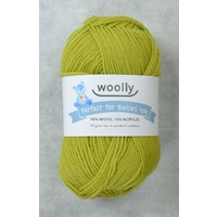 Woolly Perfect For Babies Knitting Yarn, 90% Wool 4 Ply, 50g Ball #308 LETTUCE
