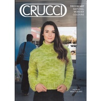 Crucci Knitting Pattern 1497, Long Sleeve Sweater, Designed for 18 Ply Pure Wool
