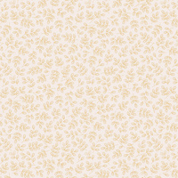 Mint Leaves, Gold On Cream, Per Metre, 112cm wide