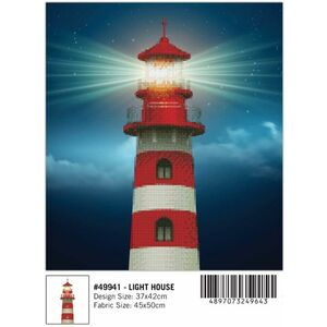 Diamond Dotz Diamond Art, LIGHT HOUSE, 5D Embroidery Facet Art Kit, 37 x 42cm
