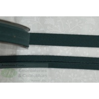 Cotton Bias Binding, 12mm Single Folded, FULL 20 Metre ROLL, FOREST GREEN