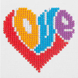 Diamond Dotz 5D Embroidery Facet Art Kit, Beginner Love