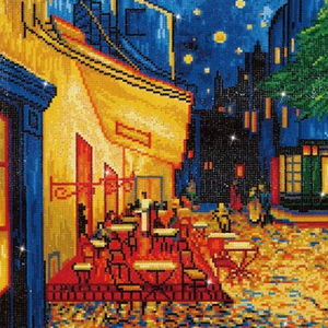 Diamond Dotz CAFE AT NIGHT (Van Gogh) DD10.005, 5D Multi Faceted Diamond Art Kit