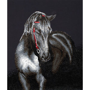 Diamond Dotz 5D Embroidery Facet Art Kit, Midnight Stallion, Round Dots, Boxed Kit