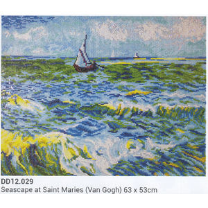 Diamond Dotz 5D Embroidery Facet Art Kit, SEASCAPE AT SAINT MARIES, Round Dots, Boxed Kit