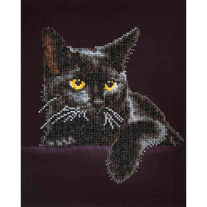 Diamond Dotz 5D Embroidery Facet Art Kit, Intermediate Midnight Cat, DD5.001