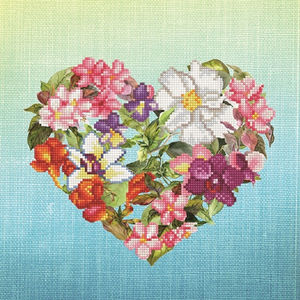 Diamond Dotz 5D Embroidery Facet Art Kit, Intermediate Flower Heart, Round Dots