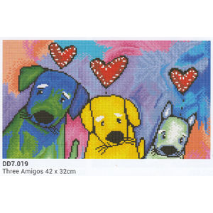 Diamond Dotz 5D Embroidery Facet Art Kit, THREE AMIGOS, 42 x 32cm, Boxed DD7.019