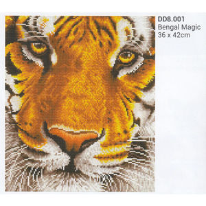 Diamond Dotz 5D Embroidery Facet Art Kit, BENGAL MAGIC, 36 x 42cm, Boxed