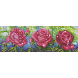 Diamond Dotz Embroidery Facet Art Kit, Intermediate Les Roses Du Jardin DD9.014