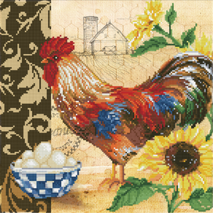 Diamond Dotz 5D Embroidery Facet Art Kit, COUNTRY ROOSTER DD9.049