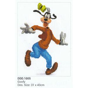 Diamond Dotz Disney GOOFY DDD.1005, 5D Multi Faceted Diamond Art Kit
