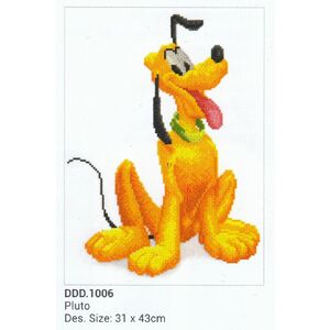 Disney 5D Embroidery Facet Art Kit, PLUTO, Round Dots