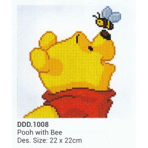 Diamond Dotz Disney 5D Embroidery Facet Art Kit POOH WITH BEE Round Dot DDD.1008