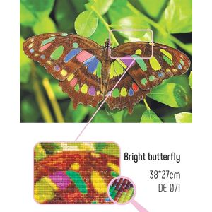 Collection D'Art 5D Diamond Embroidery Kit, BRIGHT BUTTERFLY, 27 x 38cm Mosaic Kit