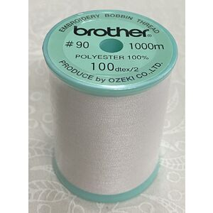 Brother Embroidery Bobbin Thread, WHITE, 1100m Spool