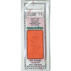 Madeira 100% PURE SILK 4-Strand Hand Embroidery Thread Colour 0206