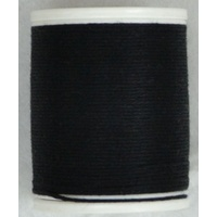 Cotona No. 4, 100M Spool Egyptian Cotton Thread, #2400 BLACK
