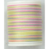 Cotona No. 4, 100M Spool Egyptian Cotton Thread, #2405 SOFT ICE VARIEGATED