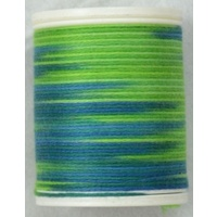 Cotona No. 4, 100M Spool Egyptian Cotton Thread, #2409 AMAZONE VARIEGATED