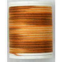 Cotona No. 4, 100M Spool Egyptian Cotton Thread, #2410 CAPPUCCINO VARIEGATED