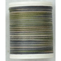 Cotona No. 4, 100M Spool Egyptian Cotton Thread, #2414 MOCCA VARIEGATED