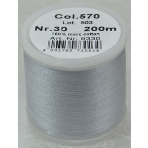 Madeira Cotona 30, 200m Embroidery & Quilting Thread Colour 570 Pale Powder Blue